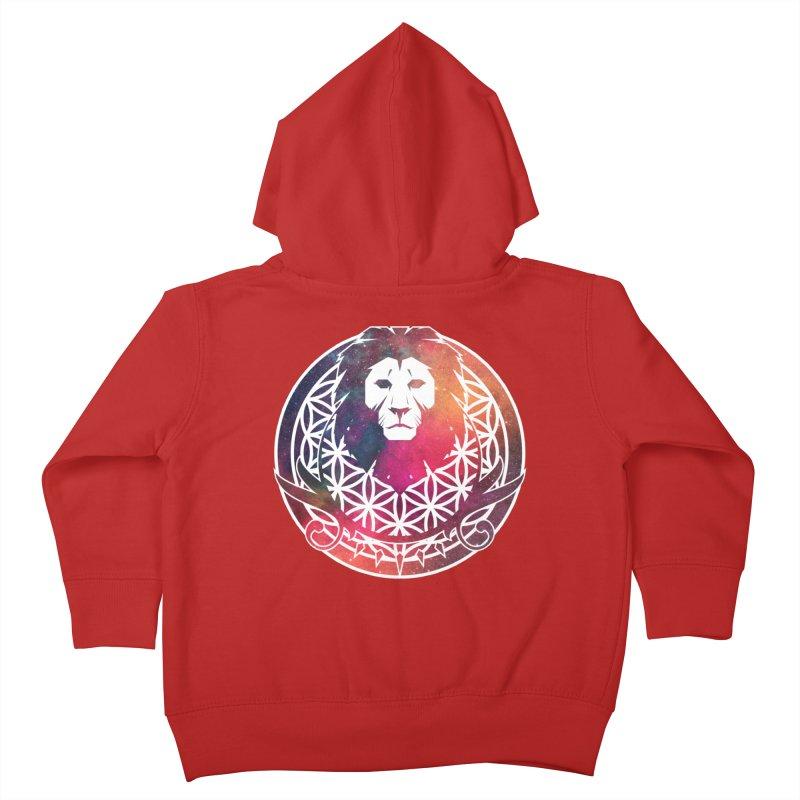 Cosmic Lion Kids Toddler Zip-Up Hoody by donvagabond's Artist Shop