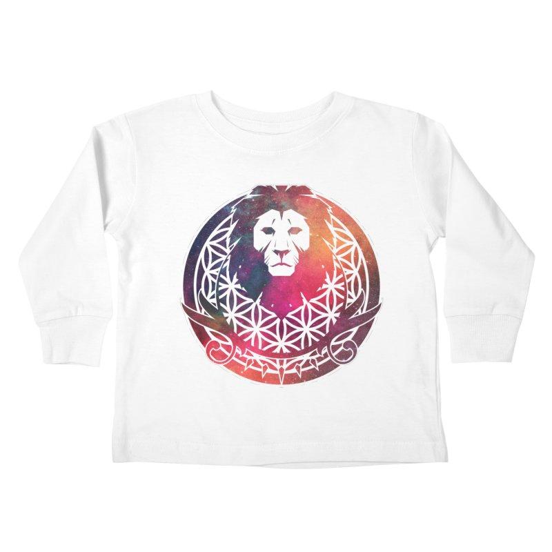 Cosmic Lion Kids Toddler Longsleeve T-Shirt by donvagabond's Artist Shop