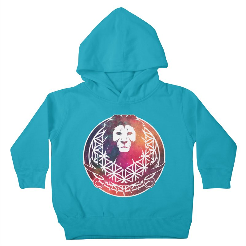 Cosmic Lion Kids Toddler Pullover Hoody by donvagabond's Artist Shop