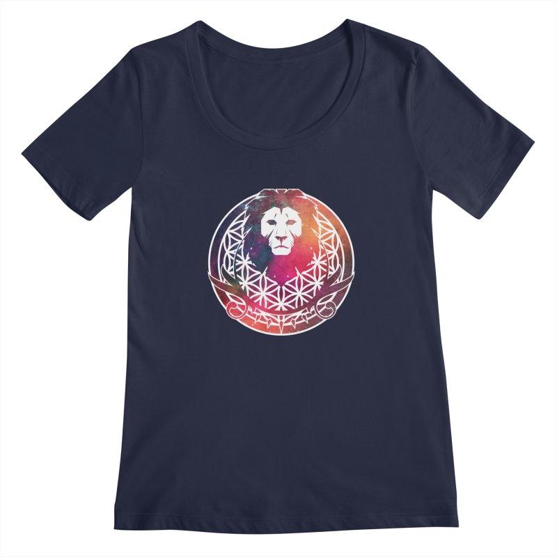 Cosmic Lion Women's Scoopneck by donvagabond's Artist Shop