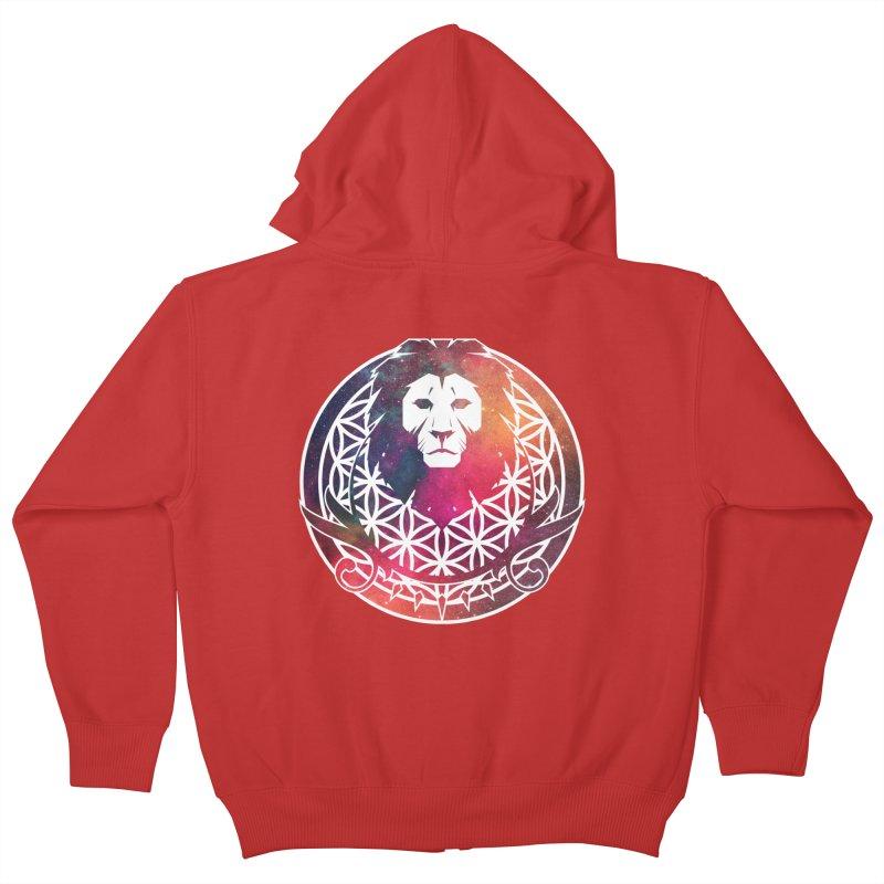 Cosmic Lion Kids Zip-Up Hoody by donvagabond's Artist Shop