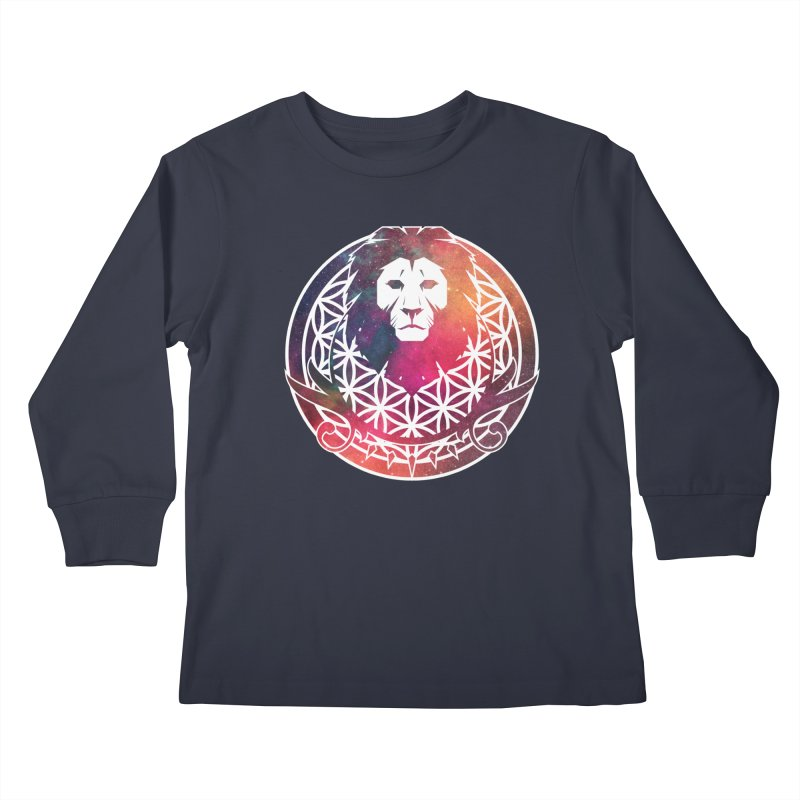 Cosmic Lion Kids Longsleeve T-Shirt by donvagabond's Artist Shop
