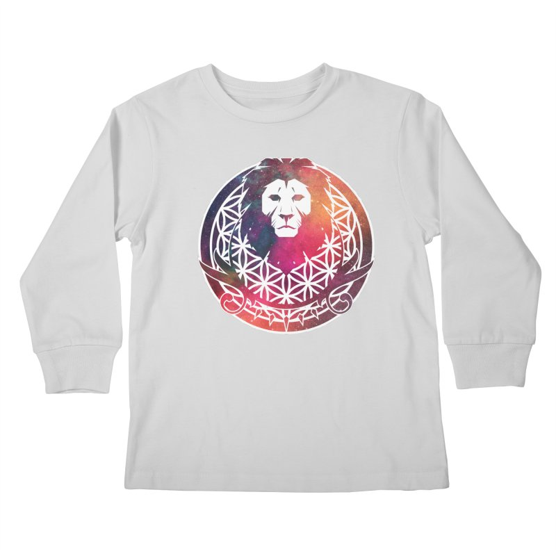 Cosmic Lion Kids Longsleeve T-Shirt by donvagabond's Artist Shop