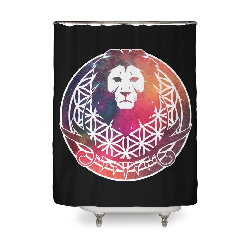Cosmic Lion Home Shower Curtain by donvagabond's Artist Shop
