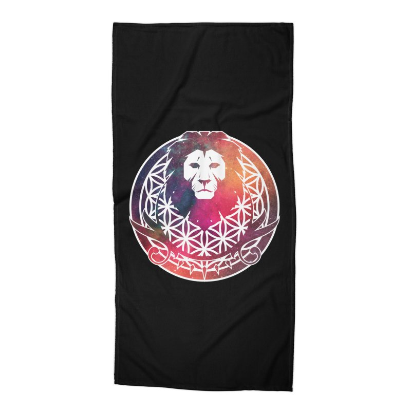 Cosmic Lion Accessories Beach Towel by donvagabond's Artist Shop