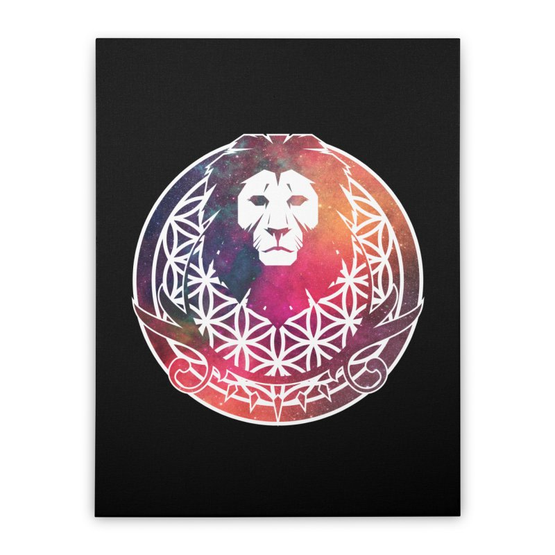Cosmic Lion Home Stretched Canvas by donvagabond's Artist Shop