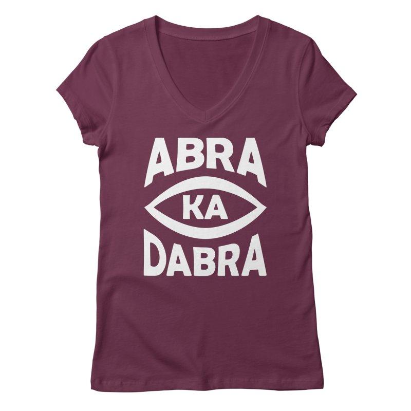 Abrakadabra Women's V-Neck by donvagabond's Artist Shop