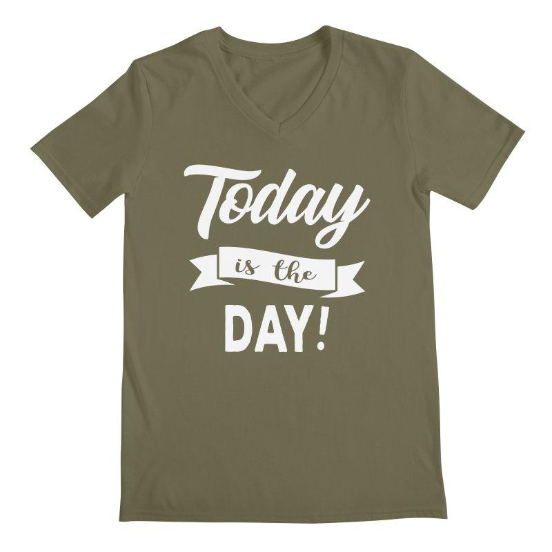 Today is the day! Men's Regular V-Neck by Don Vagabond's Artist Shop