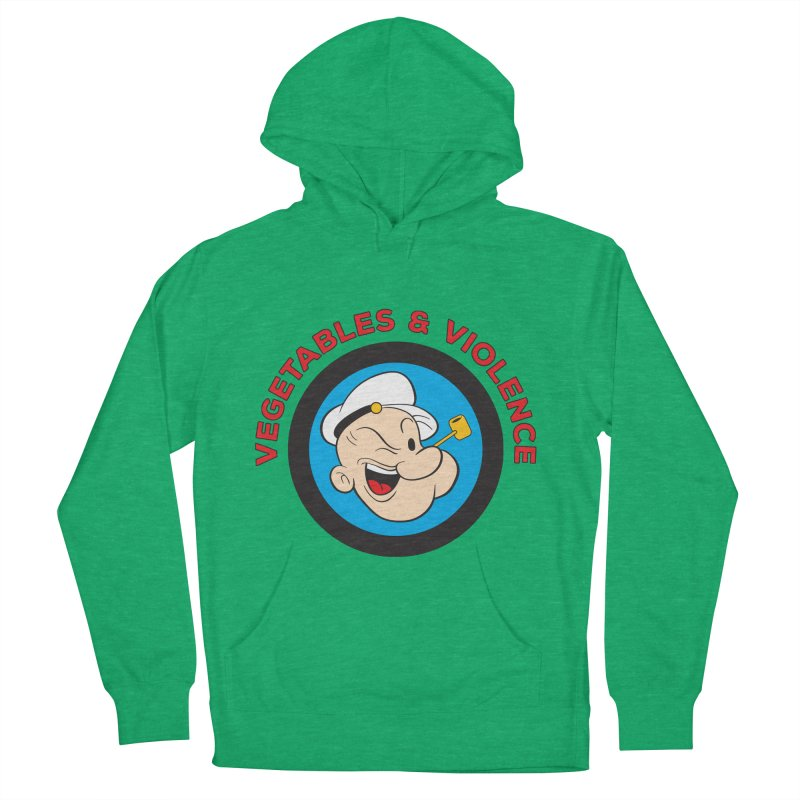 Vegetables & Violence Women's French Terry Pullover Hoody by donvagabond's Artist Shop