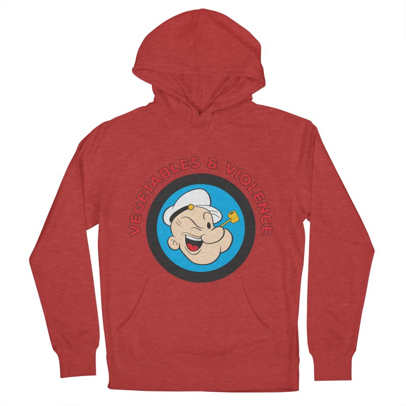 Vegetables & Violence Women's French Terry Pullover Hoody by Don Vagabond's Artist Shop