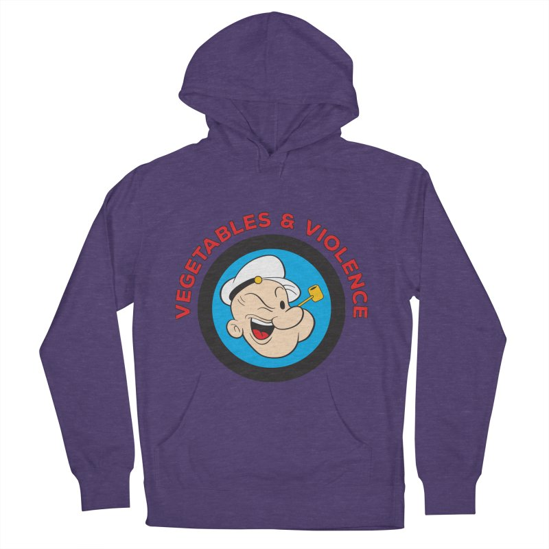 Vegetables & Violence Men's French Terry Pullover Hoody by donvagabond's Artist Shop