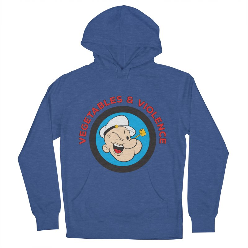 Vegetables & Violence Men's French Terry Pullover Hoody by Don Vagabond's Artist Shop