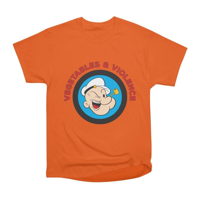 Vegetables & Violence Men's Heavyweight T-Shirt by donvagabond's Artist Shop