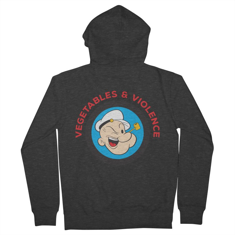 Vegetables & Violence Women's French Terry Zip-Up Hoody by Don Vagabond's Artist Shop