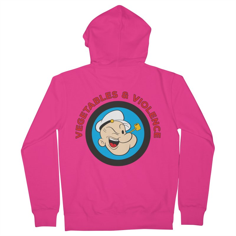 Vegetables & Violence Men's French Terry Zip-Up Hoody by Don Vagabond's Artist Shop