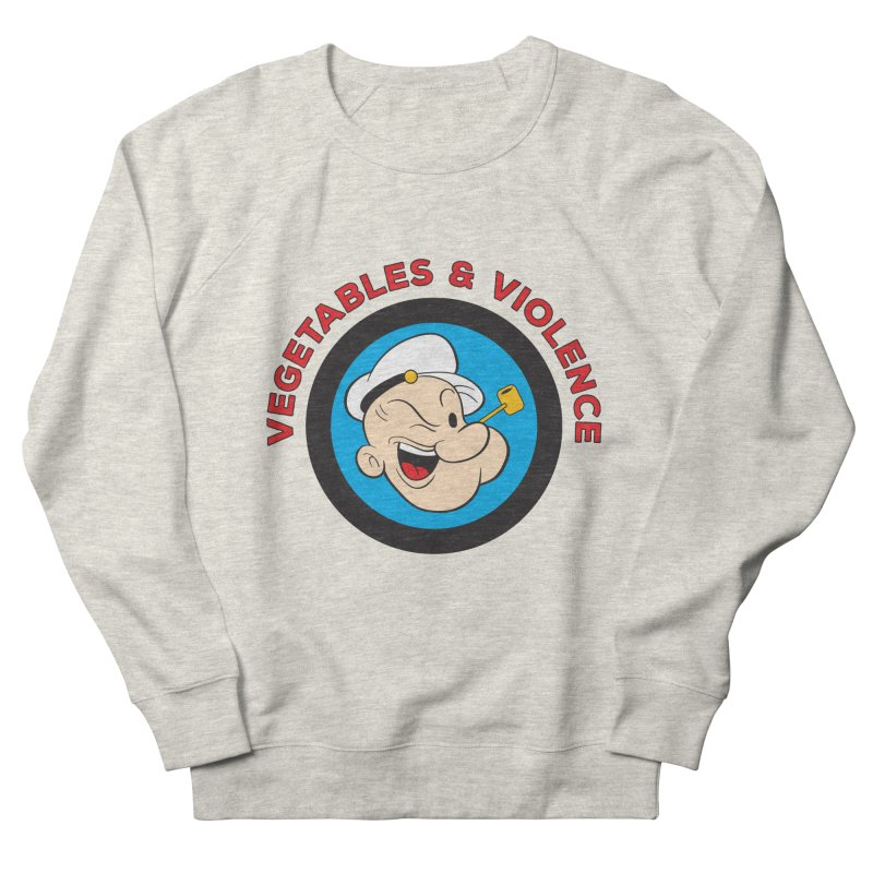 Vegetables & Violence Women's French Terry Sweatshirt by Don Vagabond's Artist Shop