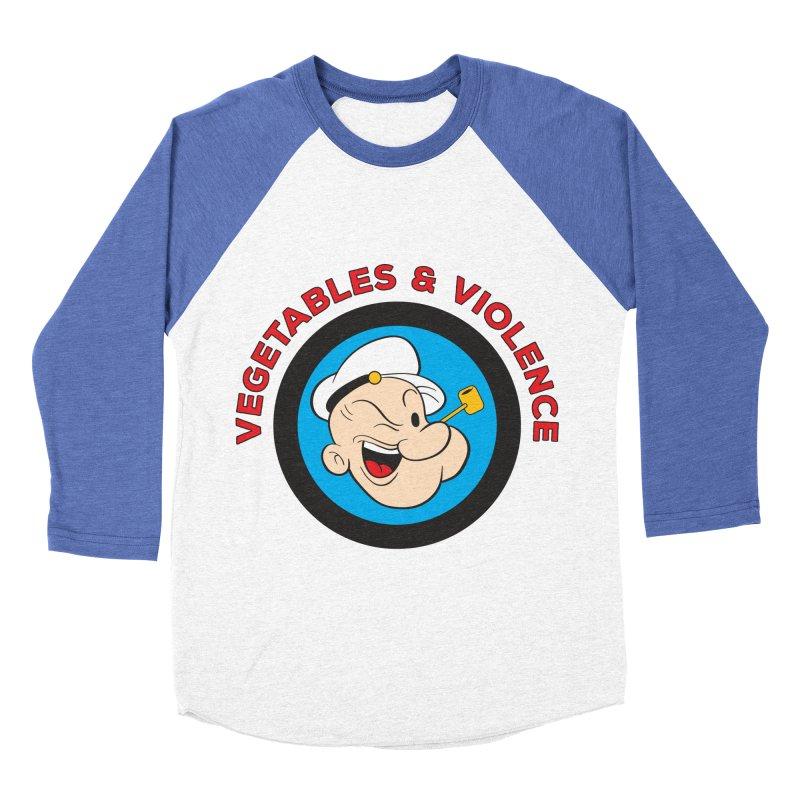 Vegetables & Violence Women's Baseball Triblend Longsleeve T-Shirt by Don Vagabond's Artist Shop