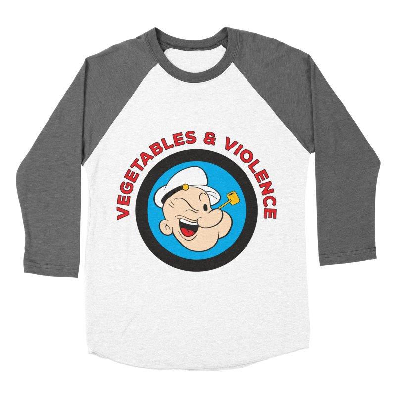 Vegetables & Violence Women's Baseball Triblend Longsleeve T-Shirt by donvagabond's Artist Shop