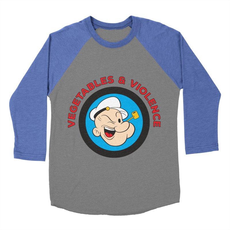 Vegetables & Violence Men's Baseball Triblend Longsleeve T-Shirt by donvagabond's Artist Shop