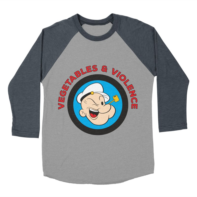 Vegetables & Violence Men's Baseball Triblend Longsleeve T-Shirt by Don Vagabond's Artist Shop