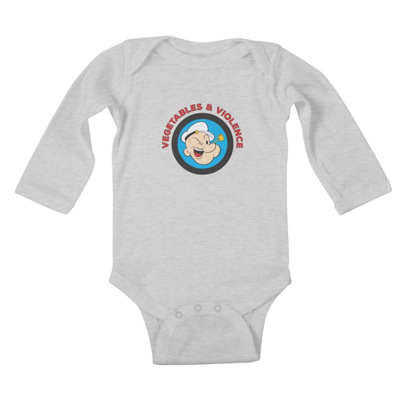 Vegetables & Violence Kids Baby Longsleeve Bodysuit by donvagabond's Artist Shop