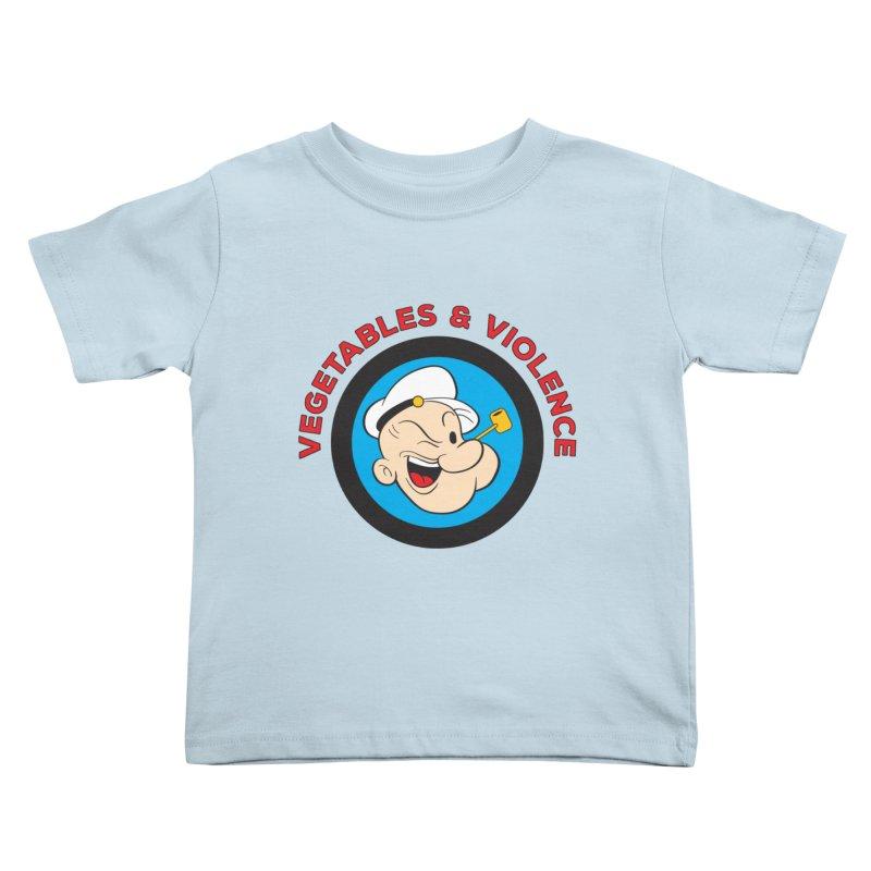Vegetables & Violence Kids Toddler T-Shirt by donvagabond's Artist Shop