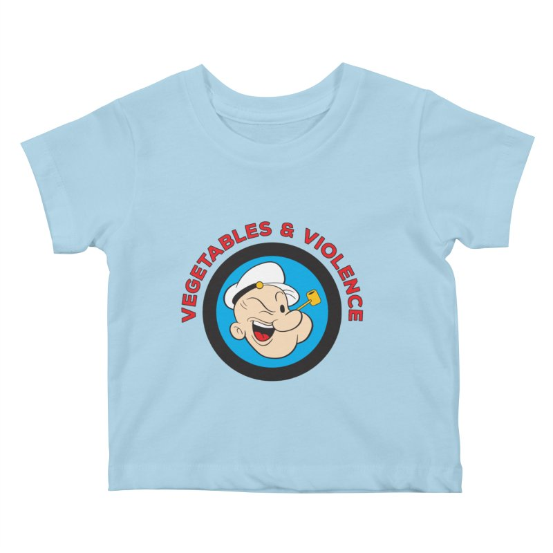 Vegetables & Violence Kids Baby T-Shirt by Don Vagabond's Artist Shop
