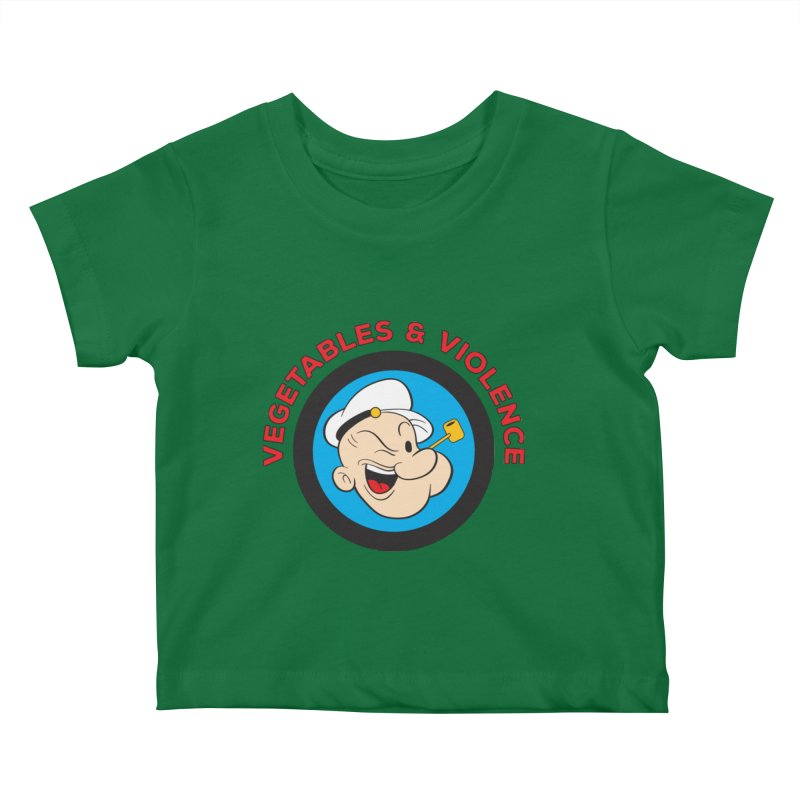 Vegetables & Violence Kids Baby T-Shirt by Don Vagabond's Artist Shop
