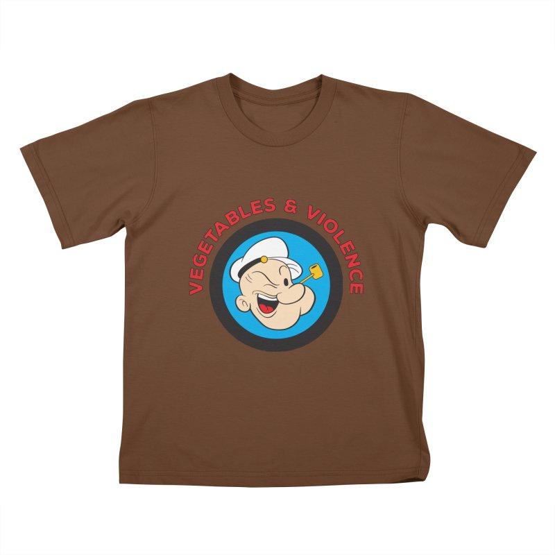 Vegetables & Violence Kids T-Shirt by donvagabond's Artist Shop