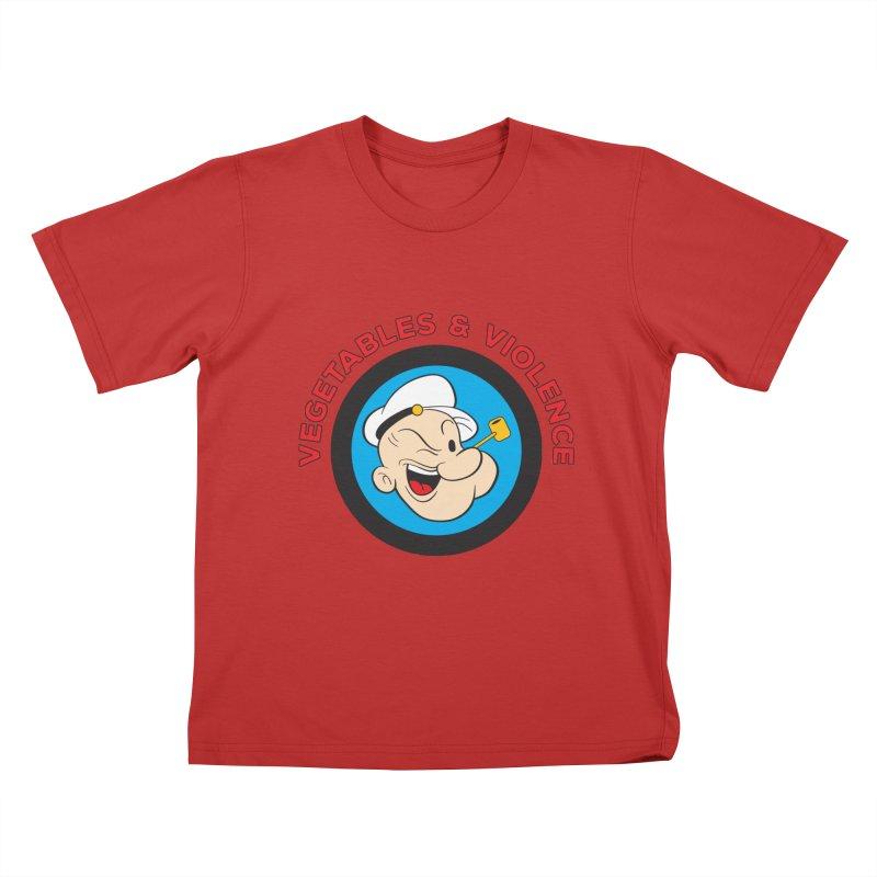 Vegetables & Violence Kids T-Shirt by Don Vagabond's Artist Shop