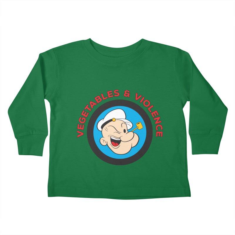 Vegetables & Violence Kids Toddler Longsleeve T-Shirt by donvagabond's Artist Shop