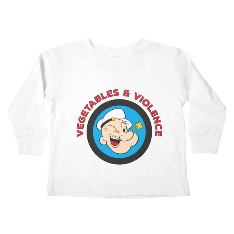 Vegetables & Violence Kids Toddler Longsleeve T-Shirt by Don Vagabond's Artist Shop