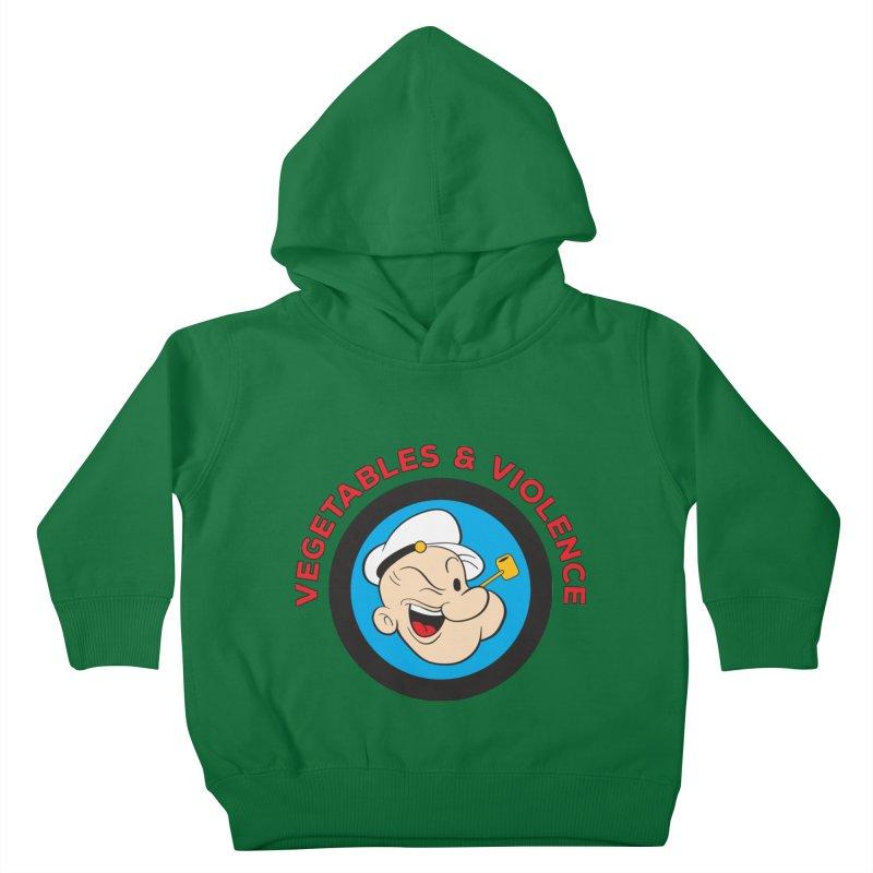 Vegetables & Violence Kids Toddler Pullover Hoody by donvagabond's Artist Shop