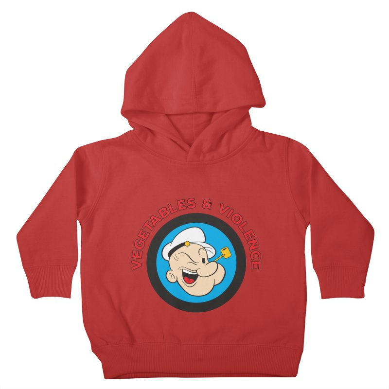 Vegetables & Violence Kids Toddler Pullover Hoody by Don Vagabond's Artist Shop
