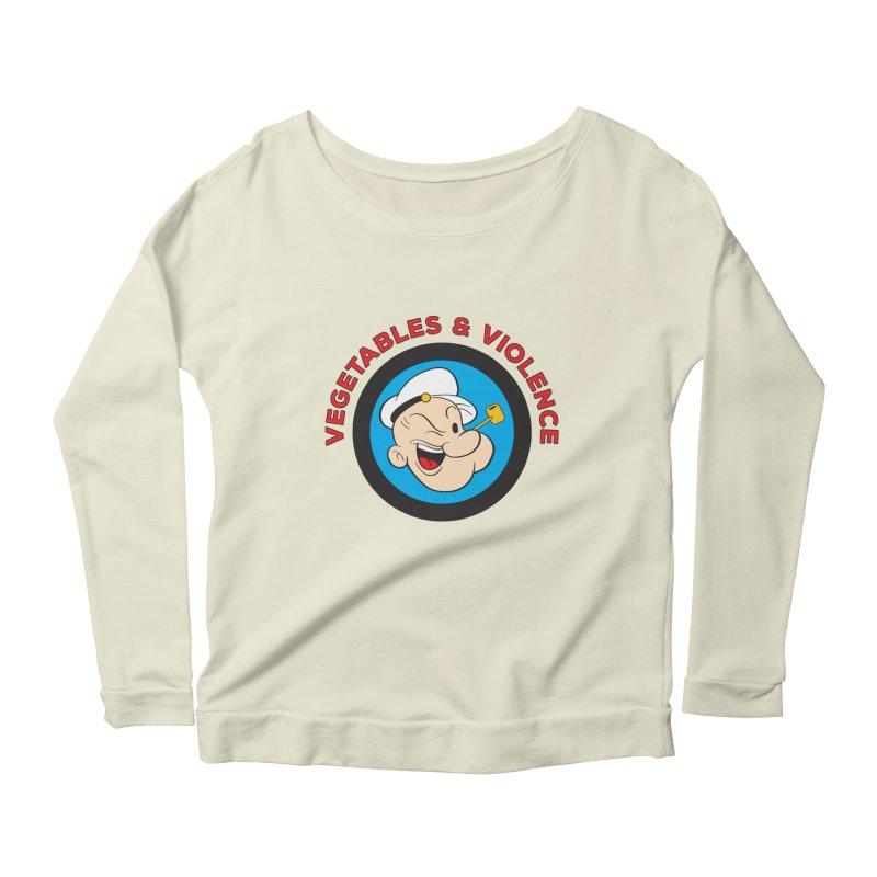 Vegetables & Violence Women's Scoop Neck Longsleeve T-Shirt by donvagabond's Artist Shop