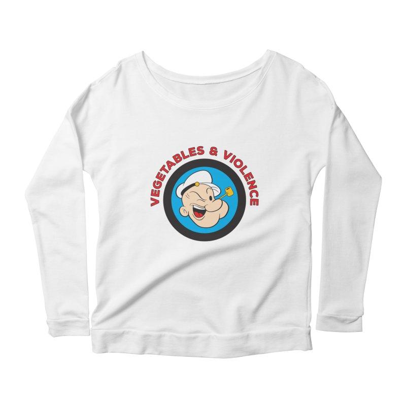 Vegetables & Violence Women's Scoop Neck Longsleeve T-Shirt by Don Vagabond's Artist Shop