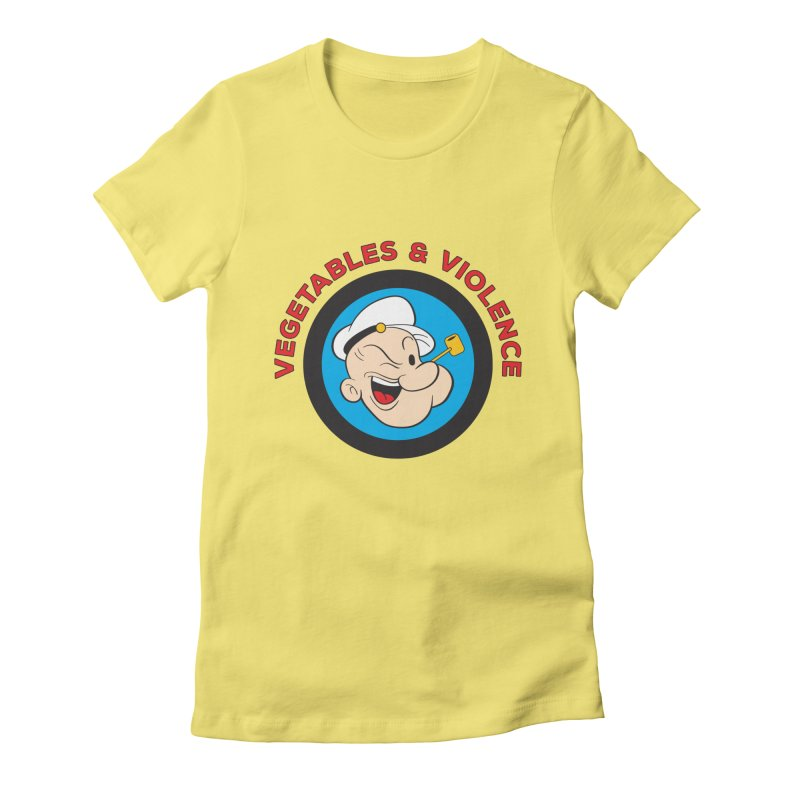 Vegetables & Violence Women's Fitted T-Shirt by Don Vagabond's Artist Shop