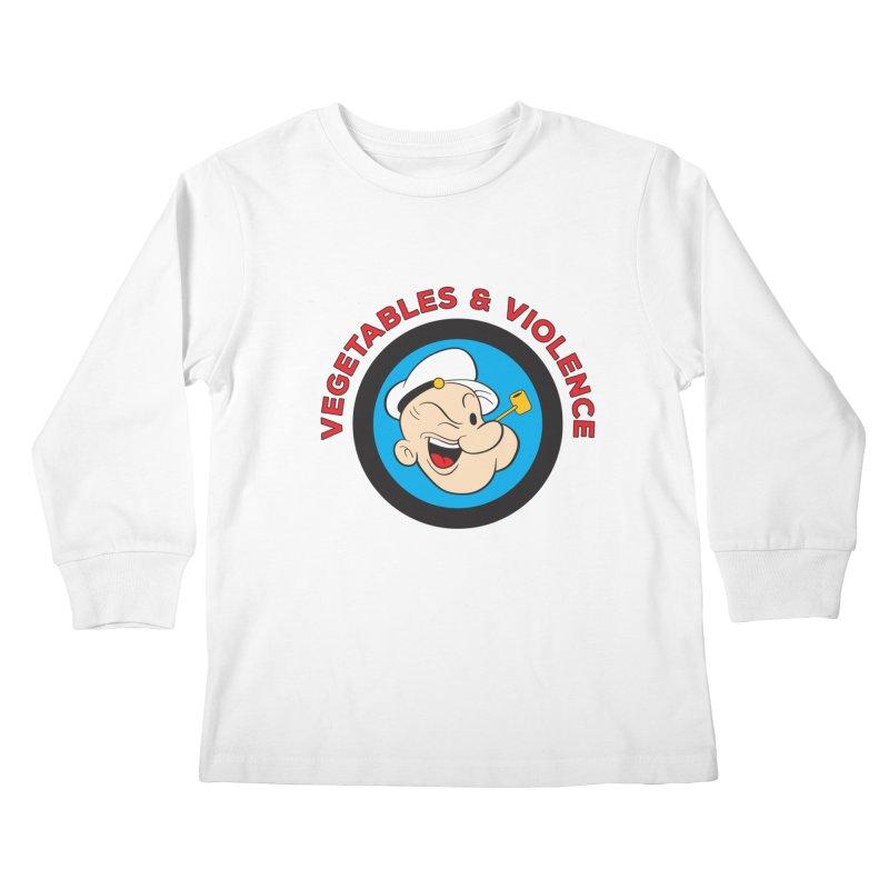 Vegetables & Violence Kids Longsleeve T-Shirt by donvagabond's Artist Shop