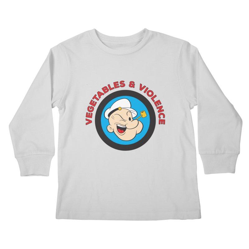 Vegetables & Violence Kids Longsleeve T-Shirt by Don Vagabond's Artist Shop