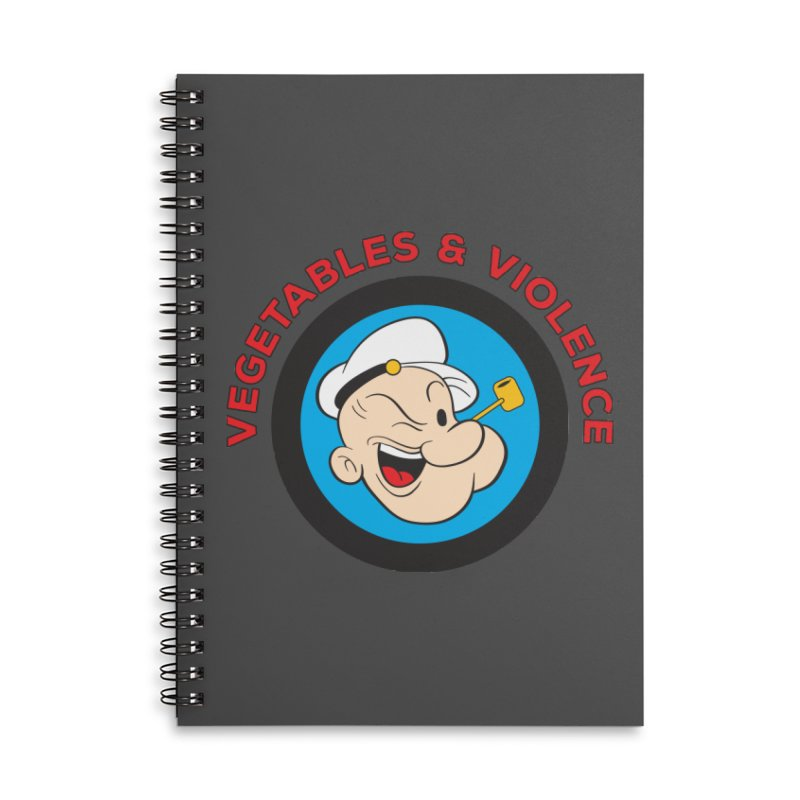 Vegetables & Violence Accessories Lined Spiral Notebook by Don Vagabond's Artist Shop