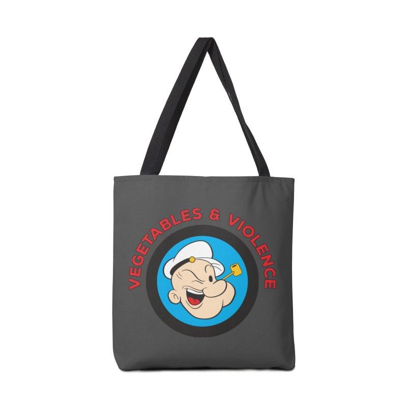 Vegetables & Violence Accessories Tote Bag Bag by Don Vagabond's Artist Shop