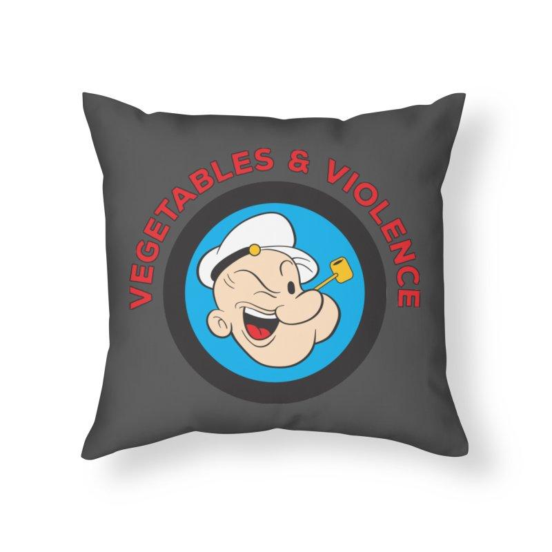 Vegetables & Violence Home Throw Pillow by donvagabond's Artist Shop