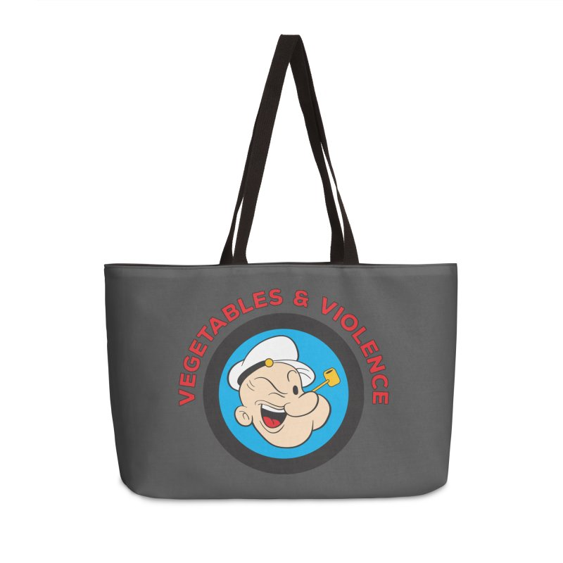Vegetables & Violence Accessories Weekender Bag Bag by Don Vagabond's Artist Shop