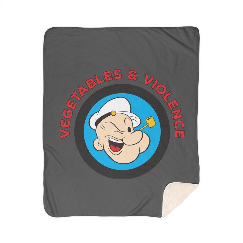 Vegetables & Violence Home Sherpa Blanket Blanket by Don Vagabond's Artist Shop