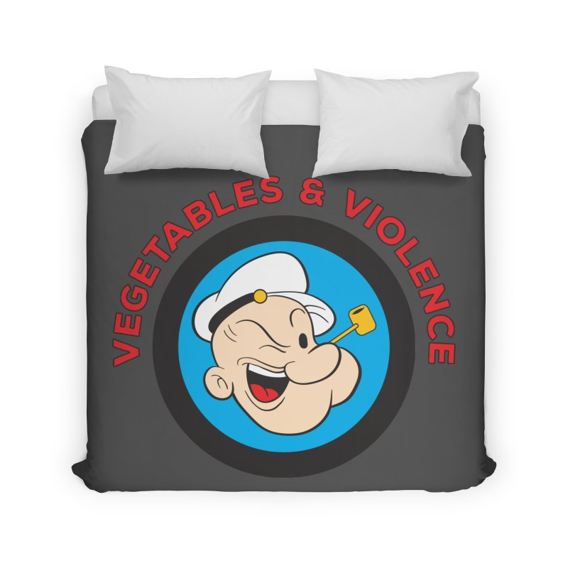 Vegetables & Violence Home Duvet by donvagabond's Artist Shop