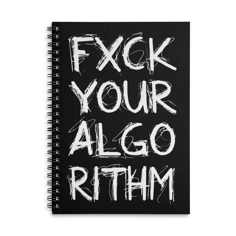 Algorithm Accessories Lined Spiral Notebook by Don Vagabond's Artist Shop