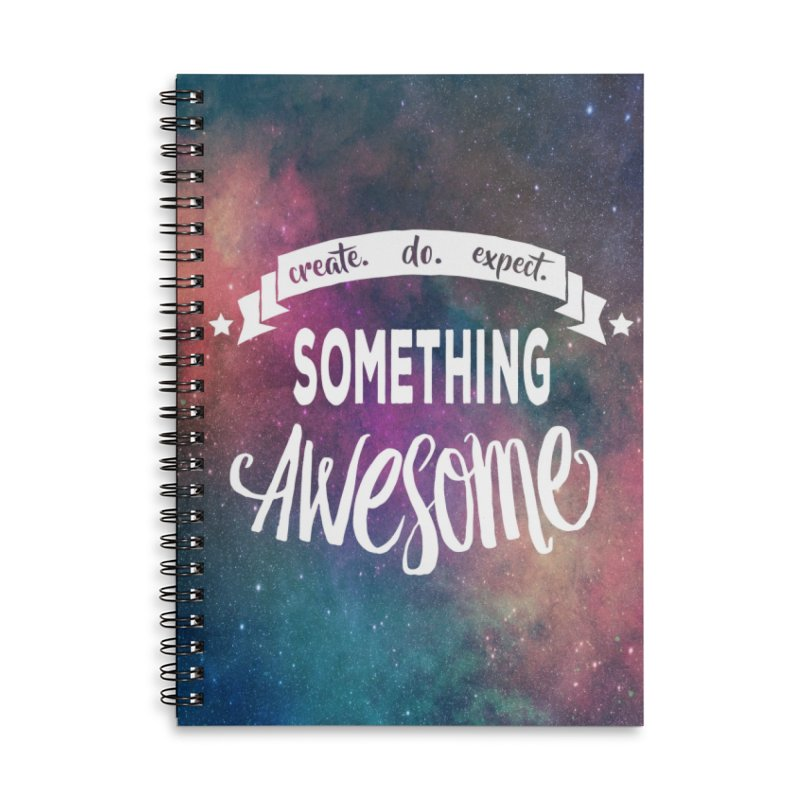 Something Awesome Accessories Lined Spiral Notebook by Don Vagabond's Artist Shop