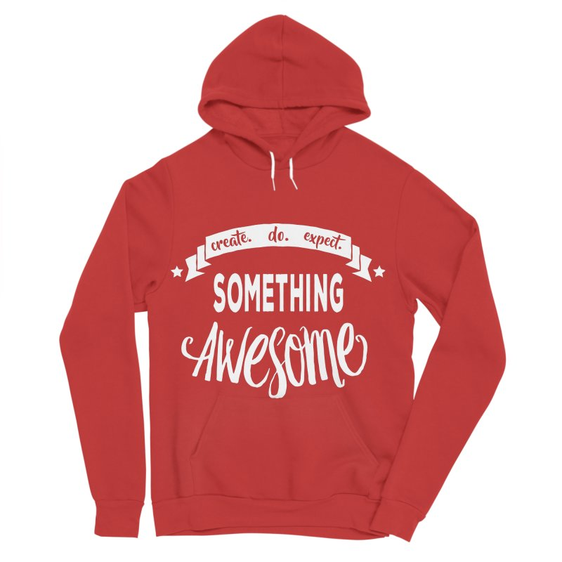 Something Awesome Men's Sponge Fleece Pullover Hoody by donvagabond's Artist Shop