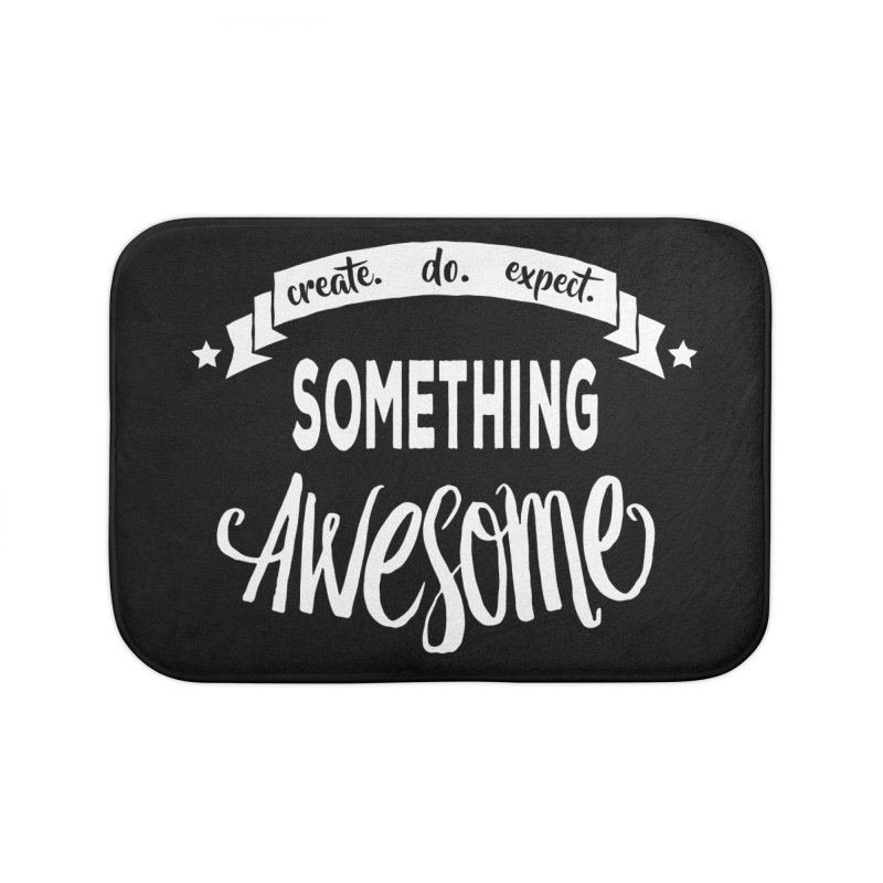 Something Awesome Home Bath Mat by Don Vagabond's Artist Shop