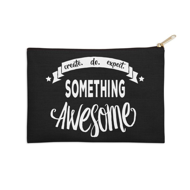 Something Awesome Accessories Zip Pouch by donvagabond's Artist Shop